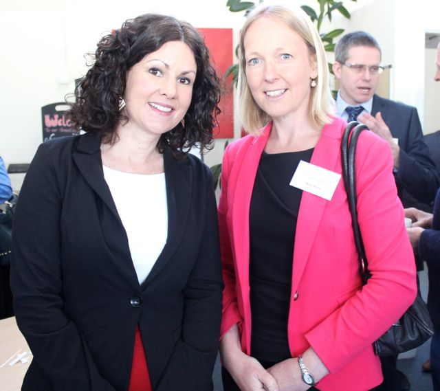 Siobhan McSweney and Mary Flynn at the Kerry LEO Free Seminar on 'Building a Business on Your Ideas' at the ITT on Thursday. Photo by Dermot Crean