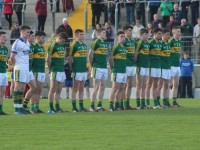 Kerry's 2015 All-Ireland winning minor team line out for threir first game in the championship against Clare. Photo by Gavin O'Connor.