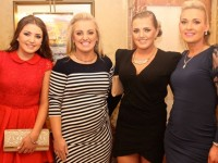Chloe Morris, Fiona O'Sullivan, Selena Morris and Celine O'Sullivan all Tralee, at Miss Kerry 2015 which took place in the Killarney Plaza Hotel on Saturday night. Photo by Dermot Crean