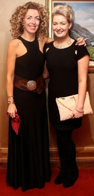 Donna McCarthy and Edel Walsh, Dingle, at Miss Kerry 2015 which took place in the Killarney Plaza Hotel on Saturday night. Photo by Dermot Crean
