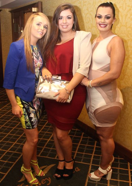 Kate O'Sullivan, Christina Foley, Tralee and Vivienne Lonergan, Tralee, at Miss Kerry 2015 which took place in the Killarney Plaza Hotel on Saturday night. Photo by Dermot Crean