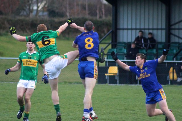 Action from John Mitchels v Spa Killarney. Photo by Dermot Crean.