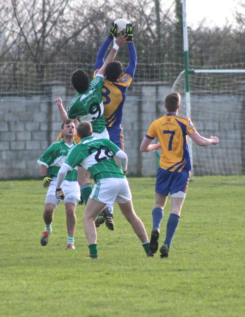 Action from Na Gaeil v Beaufort. Photo by Dermot Crean.