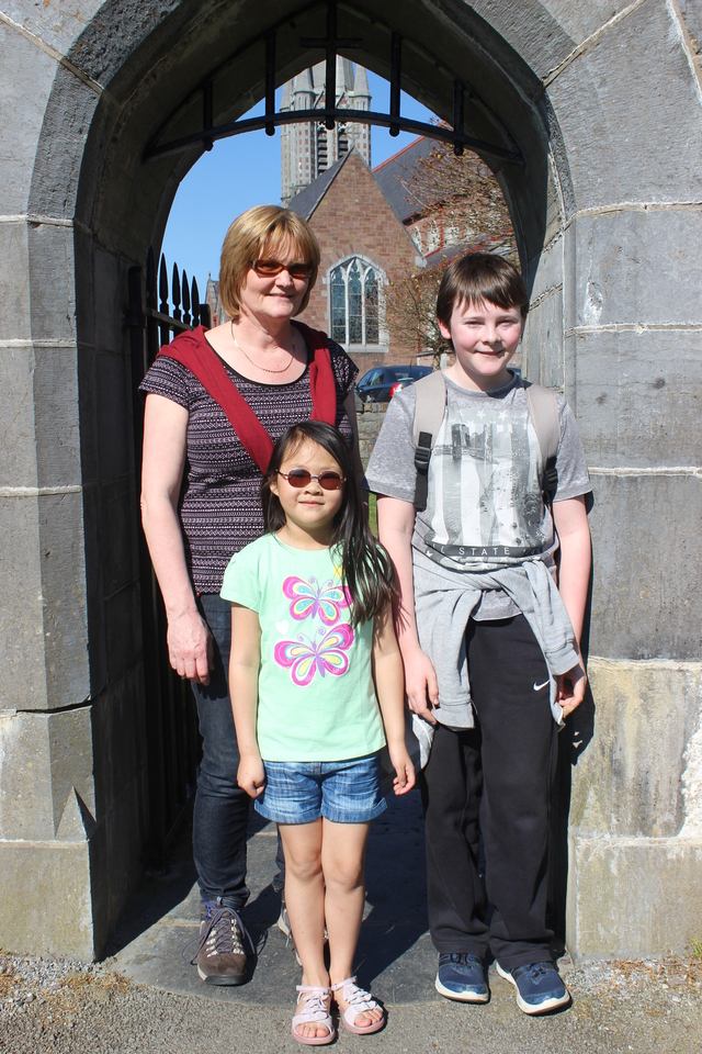 In the Town Park enjoying the great weather were, from left: Siobhan O'Keefe, Minh Cramond and Liam O'Keefe. Photo by Gavin O'Connor.