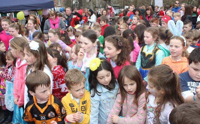 Children wait for the start of the Meadowlands Hotel Kids Fun Run at the Town Park on Saturday afternoon as part of the Tír Na nÓg Festival. Photo by Dermot Crean