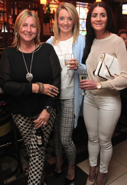 Anne O'Donnell, Denise Long and Yvonne Long at 'The Restaurant' fundraiser in Kirby's Brogue Inn on Wednesday night. Photo by Dermot Crean