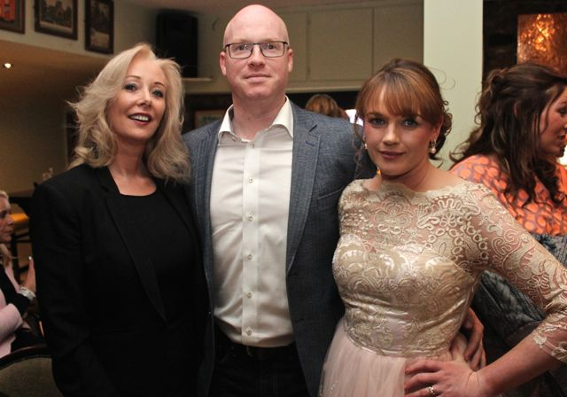 Cindy O'Connor from Pieta House and John and Breda Nelligan from The Zipyard at 'The Restaurant' fundraiser in Kirby's Brogue Inn on Wednesday night. Photo by Dermot Crean