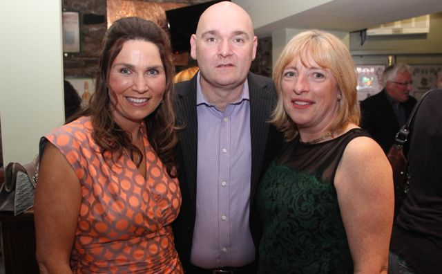 Majella Duignan, Conor Duignan and Melanie Harty at 'The Restaurant' fundraiser in Kirby's Brogue Inn on Wednesday night. Photo by Dermot Crean