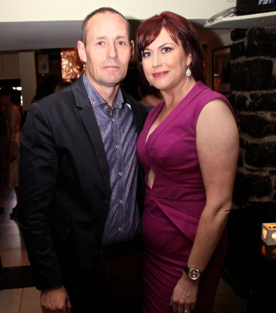 Mike and Ann Marie Dineen at 'The Restaurant' fundraiser in Kirby's Brogue Inn on Wednesday night. Photo by Dermot Crean