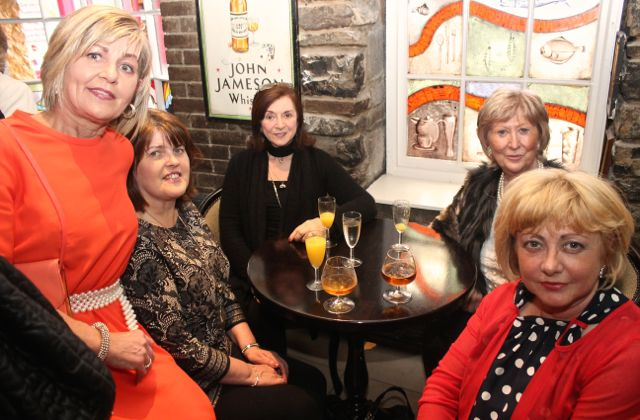 Ina O'Leary, Marie Moran, Cora Walsh, Maura Harcksen and Kathleen Hoey at 'The Restaurant' fundraiser in Kirby's Brogue Inn on Wednesday night. Photo by Dermot Crean