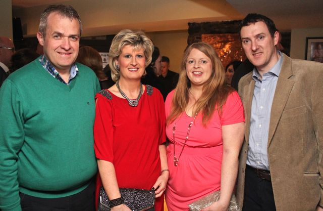 Terry and Annette Boyle and Martina and John Canty at 'The Restaurant' fundraiser in Kirby's Brogue Inn on Wednesday night. Photo by Dermot Crean