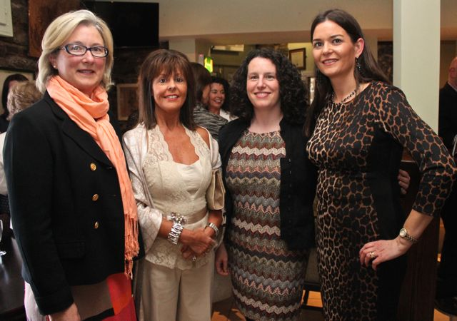 Brid Murphy, Catherine Sugrue, Triona Daly and Madeleine McCarthy at 'The Restaurant' fundraiser in Kirby's Brogue Inn on Wednesday night. Photo by Dermot Crean