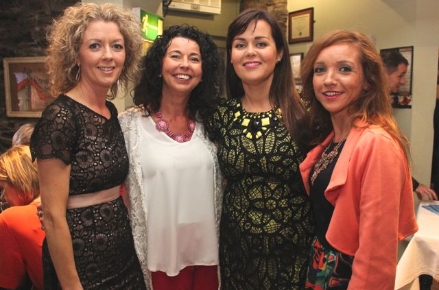 Aileen Griffin, Fiona Sheahan, Carol Ann O'Donoghue and Siobhan Daly at 'The Restaurant' fundraiser in Kirby's Brogue Inn on Wednesday night. Photo by Dermot Crean