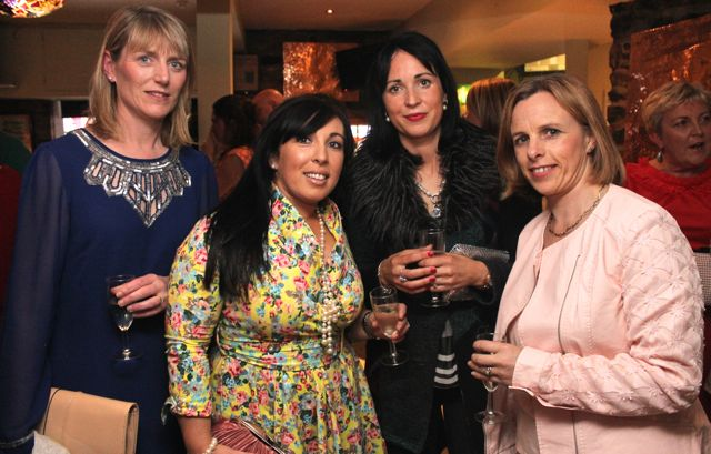 Catherine Leahy, Teresa Walker, Fiona O'Connor and Sheila Rahilly at 'The Restaurant' fundraiser in Kirby's Brogue Inn on Wednesday night. Photo by Dermot Crean