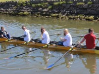 Tralee Rowing Club members taking part in a Rowathon l;ast April. Photo by Dermot Crean