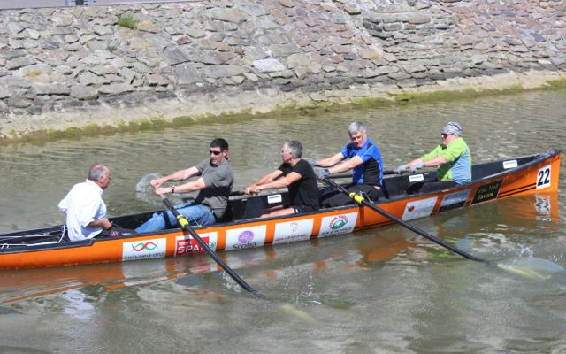 The Fenit crew coming in at the Rowathon for Tralee Rowing Club on Sunday afternoon. Photo by Dermot Crean