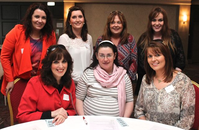 At the Tralee shoppers meeting in the Ashe Hotel were, from left, in front: Laura Lee Murphy, Geraldine O'Brien andAndrea Brosnan. Back: Ciara O'Connor, Siobhan Fitzgerald, Majella Horgan and Jennifer Gleeson. Photo O'Connor.