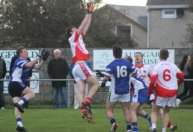 St Pats. Michael O'Sullivan fielding the ball. Photo by Dermot Crean.