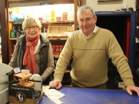 Mary Farrell and Jack Whelan of The Silver Coin off licence. Photo by Gavin O'Connor.