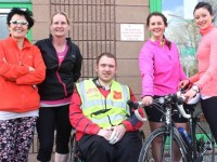 At the It Tralee SipITT Fun Triatholon were, from left: Monika Ceran, Ibana McSweeney, Ger Daly, Catriona O'Dwyer and Kate Feeney. Photo by Gavin O'Connor.