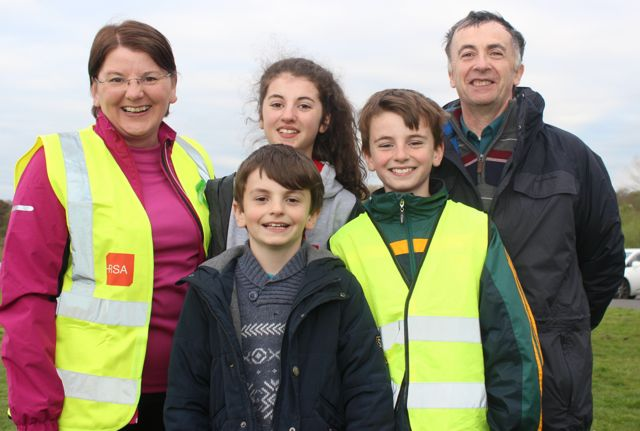 Helen and Pat O'Shea with children Aoife, Padraig and Colm from Firies at the 'Walk For Life' event at the Tralee Bay Wetlands on Saturday evening. Photo by Dermot Crean