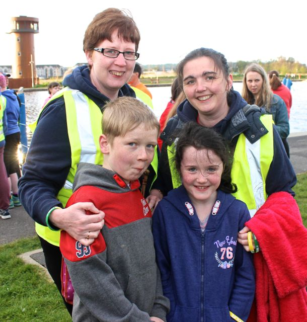 Sinead and Oisin Malone Walker with Sinead O'Connor and Katie Dowling at the 'Walk For Life' event at the Tralee Bay Wetlands on Saturday evening. Photo by Dermot Crean