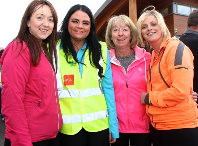 Linda Hussey, Claire Walsh, Mags Hussey, Carol Daly at the 'Walk For Life' event at the Tralee Bay Wetlands on Saturday evening. Photo by Dermot Crean