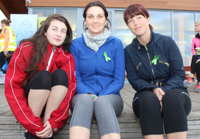 Cora Lee, Kathleen and Christine Brosnan at the 'Walk For Life' event at the Tralee Bay Wetlands on Saturday evening. Photo by Dermot Crean