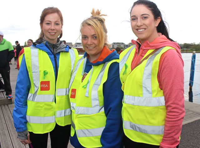Ciara Mulcahy, Denise Murphy and Deirdre Griffin at the 'Walk For Life' event at the Tralee Bay Wetlands on Saturday evening. Photo by Dermot Crean