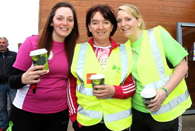 Susie O'Connell, Vera Lacey and Jennifer O'Connell at the 'Walk For Life' event at the Tralee Bay Wetlands on Saturday evening. Photo by Dermot Crean