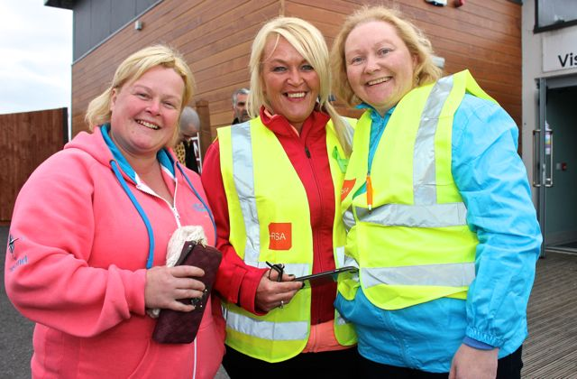 Martha Griffin, Josephine O'Dowd and Amanda Dineen at the 'Walk For Life' event at the Tralee Bay Wetlands on Saturday evening. Photo by Dermot Crean