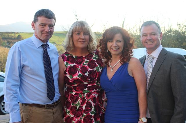 At the Austin Stacks Social in the Ballyroe Heights Hotel were, from left: Denis Ryan, Carmelita Ryan, Fiona O'Connor and Paul O'Connor. Photo by Gavin O'Connor.