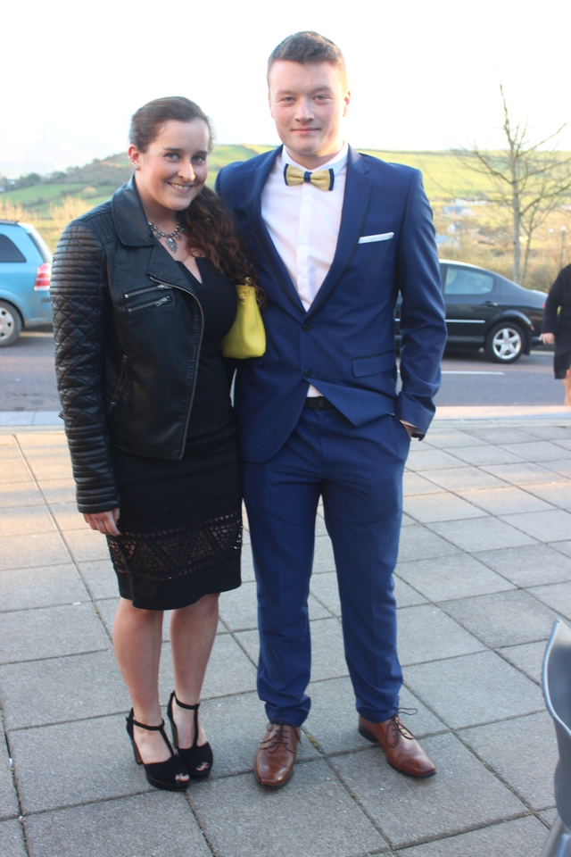 At the Austin Stacks Social in the Ballyroe Heights Hotel were, from left: Gemma and Ciaran O'Connell. Photo by Gavin O'Connor.