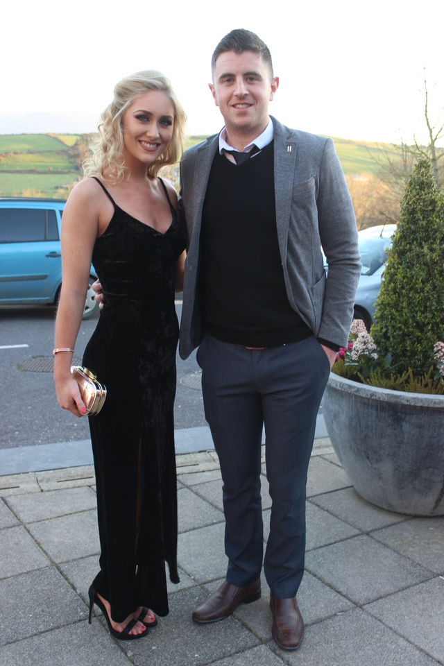 At the Austin Stacks Social in the Ballyroe Heights Hotel were, from left: Kristin McKenzie and David Mannix. Photo by Gavin O'Connor.