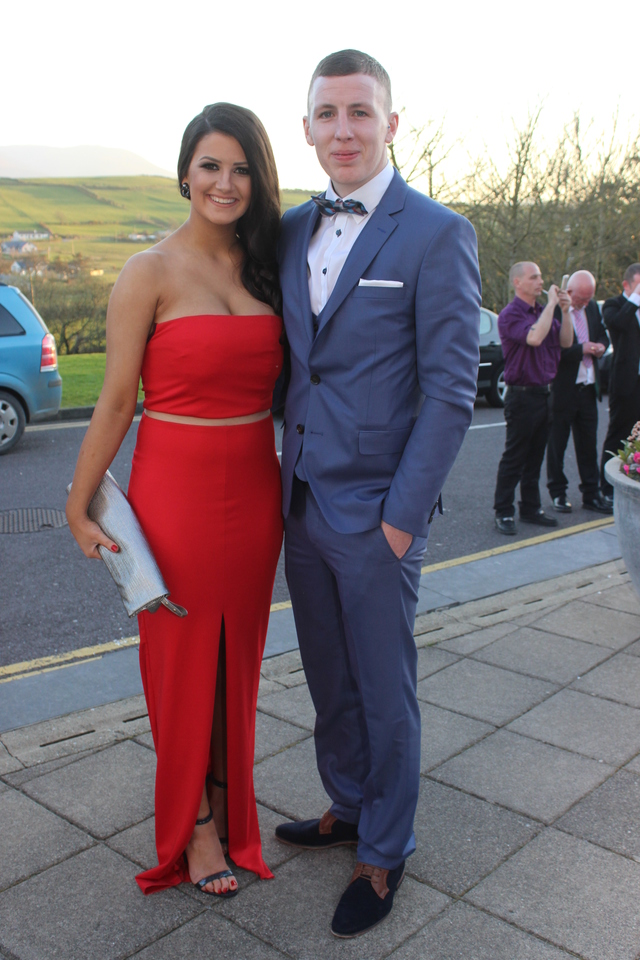 At the Austin Stacks Social in the Ballyroe Heights Hotel were, from left: Darragh O'Brian and Kayleigh Quirke. Photo by Gavin O'Connor.