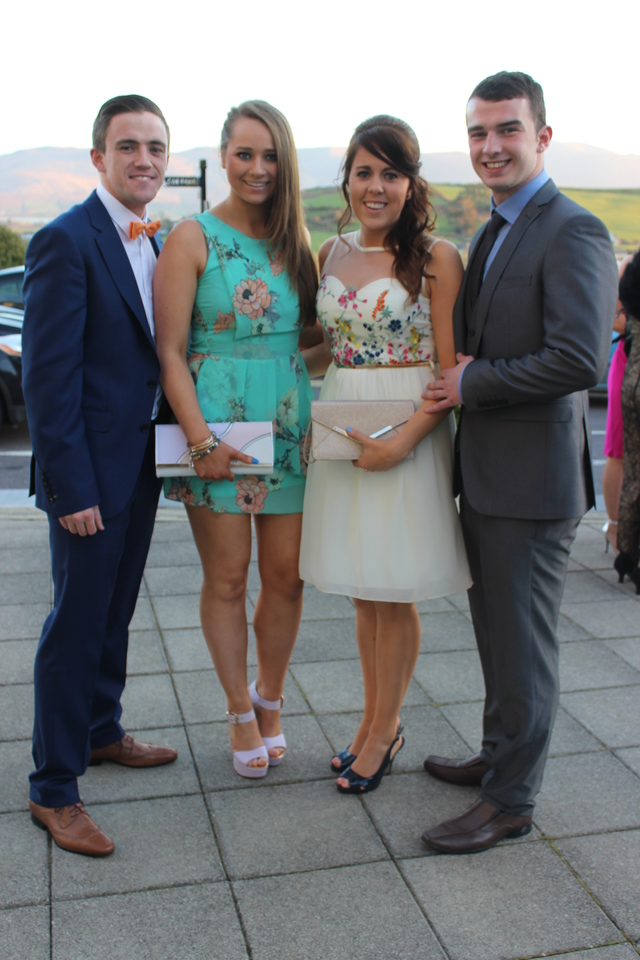 At the Austin Stacks Social in the Ballyroe Heights Hotel were, from left: Nicholas Gogerty, Rachel O'Sullivan, Erin Sheehan and Seamus Bastible. Photo by Gavin O'Connor.