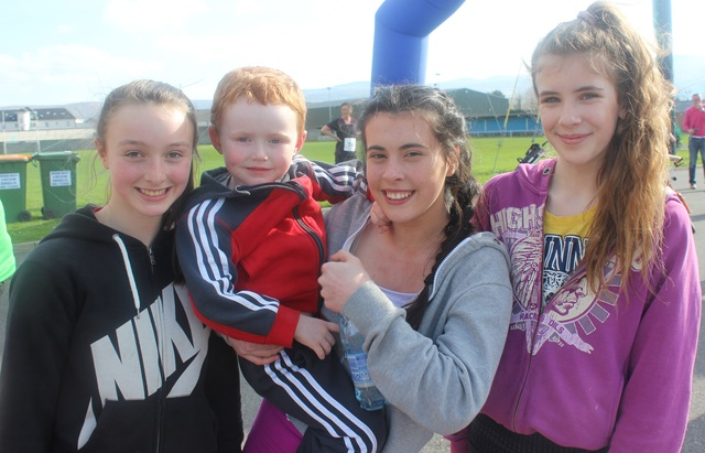 At the Kerins O'Rahillys Ladies 5K Family Fun Run were, from left: Maeve Maloney, Paddy Flynn, Aoife Flynn and Ellen Wallace. Photo by Gavin O'Connor.