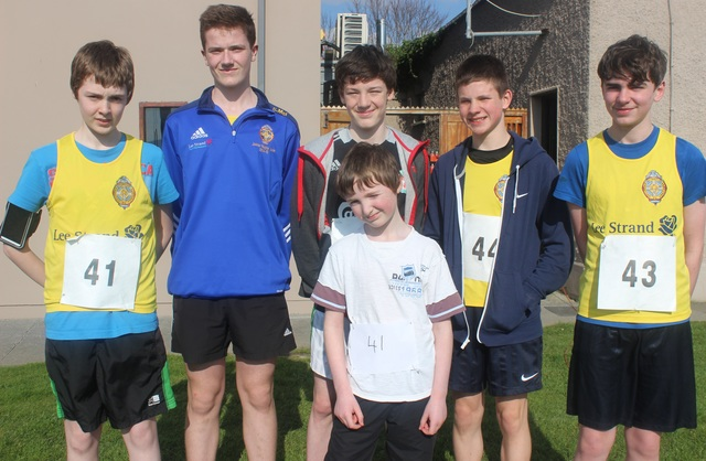 At the Kerins O'Rahillys Ladies 5K Family Fun Run were, from left, front: Kyle Hellstrom. Back: Jason Hellstrom, Cathal McGloughlin, Eoin Cahill, Oisin O'Mahony and Micheal Carroll. Photo by Gavin O'Connor.