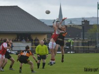 Action from Austin Stacks v Waterville in the county league last weekend.