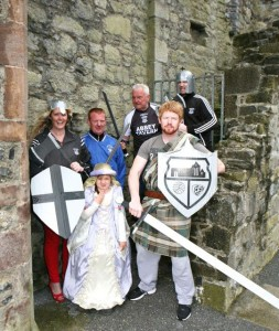 Toireasa Ferris with daughter Liadain, Ger Leen, Jim O'Gorman, Chris O'Connor and David Wallace launching the upcoming Ardfert Medieval Festival. Photo by Steven Baker