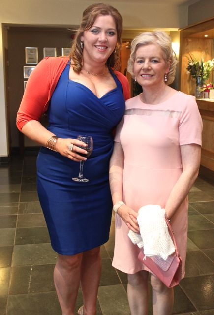 Rita McCarthy and Marie Stack of the Listowel Club at the Kerry Badminton Annual Social at the Ballyroe Heights Hotel on Friday evening. Photo by Dermot Crean