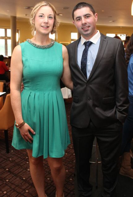 Edel Broderick and Adrian Kenny of the Castleisland Club at the Kerry Badminton Annual Social at the Ballyroe Heights Hotel on Friday evening. Photo by Dermot Crean