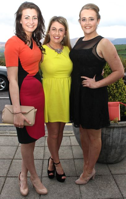 Grace Stack, Gillian Mannix and Darina Stack, County Club, at the Kerry Badminton Annual Social at the Ballyroe Heights Hotel on Friday evening. Photo by Dermot Crean