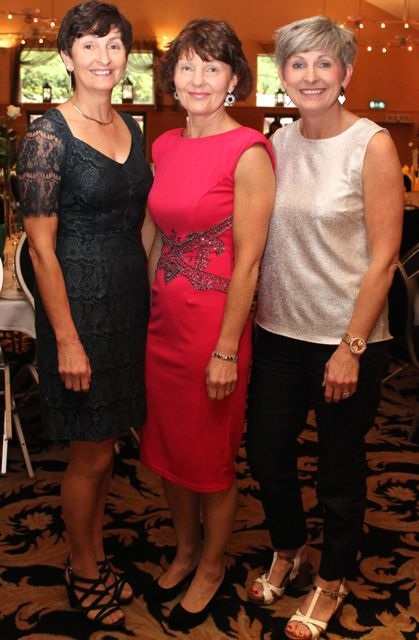 Blandina O'Connor, Christine O'Connor and Marie Geaney, Dingle, at the Kerry Badminton Annual Social at the Ballyroe Heights Hotel on Friday evening. Photo by Dermot Crean