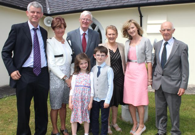 Rory Kelliher from Blennerville NS who made their First Holy Communion on Saturday in St Brendan's Church Curraheen with dad Paul, grandparents Babs and Donal Kelliher, grandmother Toni Corkery, mum Tracy Corkery and grandad Pat Corkery. Photo by Dermot Crean