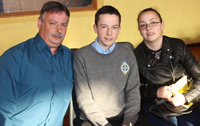 Patrick, Alan  and Aisling Quirke at the CBS The Green Graduation night in the school gym on Thursday night. Photo by Dermot Crean