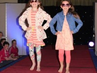 Ciara Drummey and Amy Scanlon at the CBS Primary School Fashion Show at the Ballyroe Heights Hotel on Thursday night. Photo by Michelle Culloty