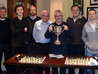 Members of Tralee Chess Club who won the Limerick Leader Munster Division 2 Cup, from left: Aland and Eric Salsac, John Keane, Paul Shanahan, Patrick O'Sullivan, Gerry Hurley and Sebastian Kalisea.