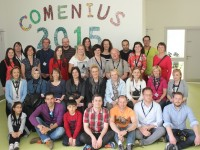 St Ita's St Joseph, staff with teachers from four European nations who visited the school as part of the Comenius initiative. Photo by Gavin O'Connor.