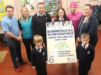 At the launch of the Blennervile National School 5k/10k Road Race were  from left, front: Sean and Conor O'Neil. Back: Marcus Howlett, Kerry O'Neil, Kerry O'Sullivan, Emma Grainey, Machelle Grainey and Orla O'Donnell. Photo by Gavin O'Connor.